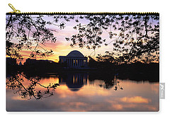 Memorial At The Waterfront, Jefferson Carry-all Pouch by Panoramic Images