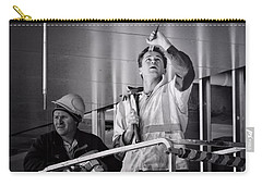 Carry-all Pouch featuring the photograph Men At Work by Wallaroo Images