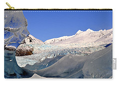Carry-all Pouch featuring the photograph Mendenhall Glacier Refraction by Cathy Mahnke