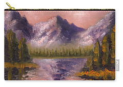 Carry-all Pouch featuring the painting Mental Mountain by Jason Williamson