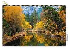 Merced River And Leaning Pine Carry-all Pouch by Terry Garvin