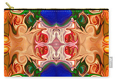 Carry-all Pouch featuring the digital art Merging Consciousness With Abstract Artwork By Omaste Witkowski  by Omaste Witkowski