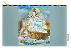 Carry-all Pouch featuring the photograph Merit King Kuan Yin by Lanjee Chee