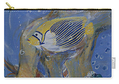 Carry-all Pouch featuring the painting Mermaid by Avonelle Kelsey