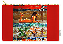 Mermaid Day Dreaming  Carry-all Pouch by Jackie Carpenter