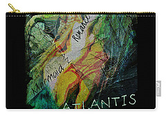 Carry-all Pouch featuring the digital art Mermaid Love Spell by Absinthe Art By Michelle LeAnn Scott