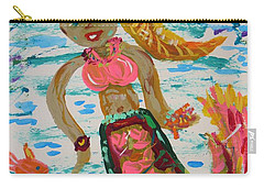 Carry-all Pouch featuring the painting Mermaid Mermaid by Mary Carol Williams