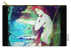 Carry-all Pouch featuring the digital art Mermaid Of The Tides by Absinthe Art By Michelle LeAnn Scott