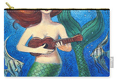 Mermaid Ukulele Angels Carry-all Pouch