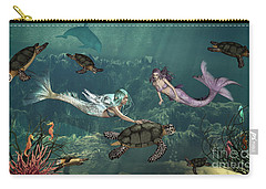 Mermaids At Turtle Springs Carry-all Pouch
