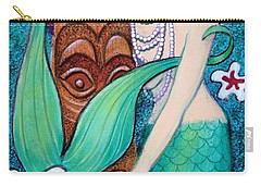 Mermaid's Tiki God Carry-all Pouch