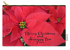 Christmas Poinsettia Carry-all Pouch by William Tanneberger