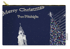 Carry-all Pouch featuring the photograph Merry Christmas From Philly by Photographic Arts And Design Studio
