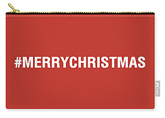 Merry Christmas Hashtag Carry-all Pouch