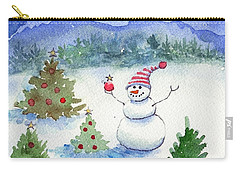 Merry Christmas Carry-all Pouch by Katherine Miller