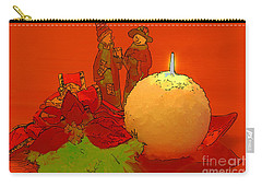 Merry Christmas Carry-all Pouch by Teresa Zieba