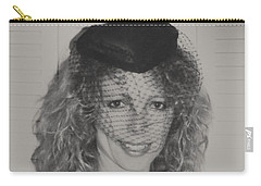 Carry-all Pouch featuring the photograph Beautiful Blue Eyed Belinda by Belinda Lee