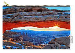 Mesa Arch Sunrise Carry-all Pouch by Adam Jewell