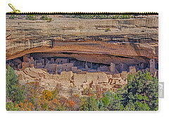 Mesa Verde Cliff Dwelling Carry-all Pouch by Paul Freidlund