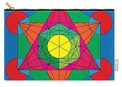 Metatron's Cube In Colors Carry-all Pouch