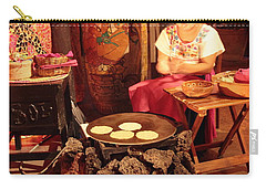 Mexican Girl Making Tortillas Carry-all Pouch