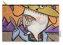 Carry-all Pouch featuring the painting Mexican Tooth by Anthony Falbo