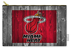 Miami Heat Barn Door Carry-all Pouch by Dan Sproul