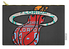 Miami Heat Basketball Team Retro Logo Vintage Recycled Florida License Plate Art Carry-all Pouch