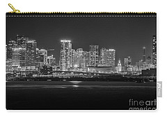 Miami On A Clear Summer Night Carry-all Pouch by Rene Triay Photography
