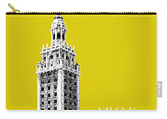Miami Skyline Freedom Tower - Mustard Carry-all Pouch