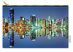 Miami Skyline Panorama Carry-all Pouch by Carsten Reisinger