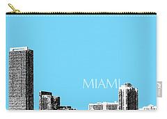 Miami Skyline - Sky Blue Carry-all Pouch