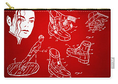 Michael Jackson Anti-gravity Shoe Patent Artwork Red Carry-all Pouch by Nikki Marie Smith