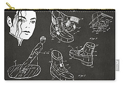 Michael Jackson Anti-gravity Shoe Patent Artwork Vintage Carry-all Pouch by Nikki Marie Smith