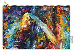 Michael Jackson - Palette Knife Oil Painting On Canvas By Leonid Afremov Carry-all Pouch by Leonid Afremov