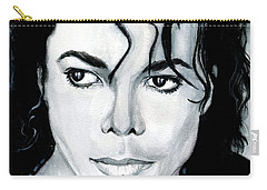 Michael Jackson Portrait Carry-all Pouch by Alban Dizdari