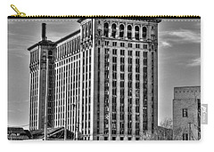 Michigan Central Station Carry-all Pouch by Nicholas  Grunas