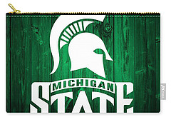 Michigan State Barn Door Carry-all Pouch by Dan Sproul