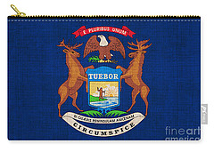 Michigan State Flag Carry-all Pouch by Pixel Chimp