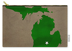 Michigan State University Spartans East Lansing College Town State Map Poster Series No 004 Carry-all Pouch by Design Turnpike