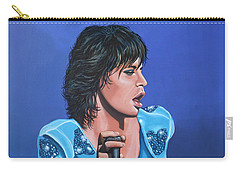 Mick Jagger Carry-all Pouch by Paul Meijering