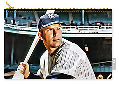 Mickey Mantle Carry-all Pouch by Florian Rodarte