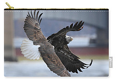 Carry-all Pouch featuring the photograph Mid Air Fight by Coby Cooper