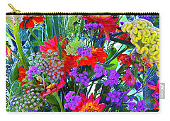 Carry-all Pouch featuring the photograph Mid August Bouquet by Byron Varvarigos