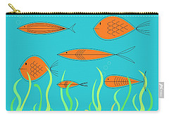 Mid Century Fish 2 Carry-all Pouch