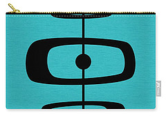 Mid Century Shapes 2 On Turquoise Carry-all Pouch