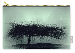 Middlethorpe Tree In Fog Gray And Green Carry-all Pouch by Tony Grider