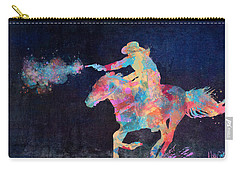 Carry-all Pouch featuring the digital art Midnight Cowgirls Ride Heaven Help The Fool Who Did Her Wrong by Nikki Marie Smith