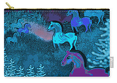 Midnight Horses Carry-all Pouch by Carol Jacobs
