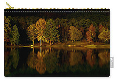 Midnight On The Lake Carry-all Pouch by Linda Unger